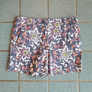LOFT Navy Floral Riviera High Waisted Shorts